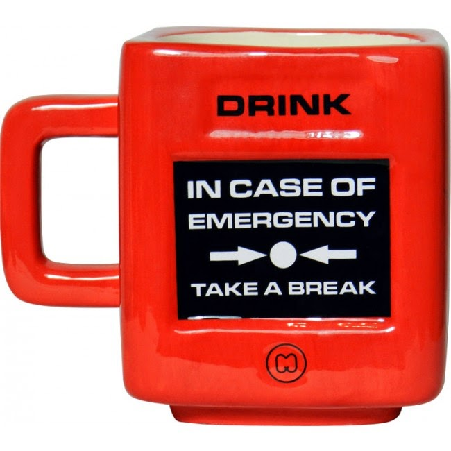 Taza Romper en caso de emergencia