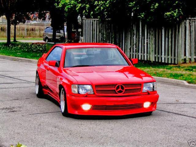 mercedes 126 amg sec red