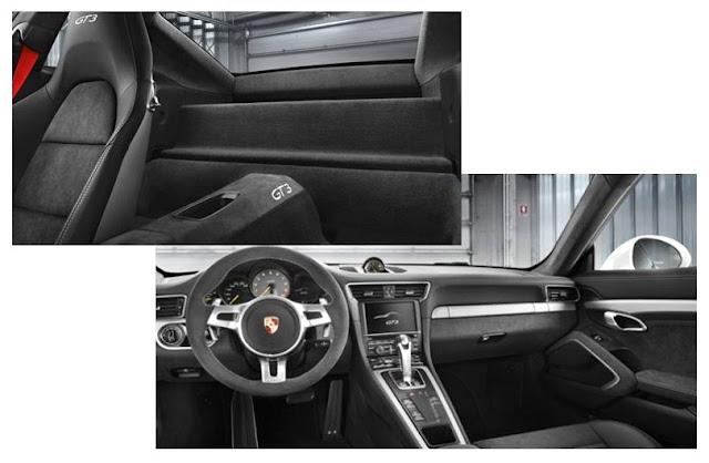 Detalle automóvil Porsche 911 GT3 2013, interior