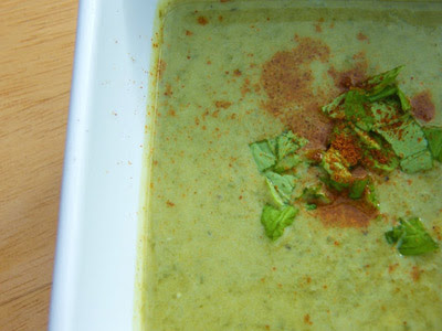 spinach blue cheese pear soup