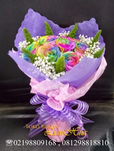 bunga mawar pelangi untuk ulang tahun bouquet Bunga Ulang Tahun, Bunga Ulang Tahun, Bunga Ulang Tahun Ibu, Bunga Ulang Tahun Pacar, Kado Bunga Ulang Tahun, Toko Bunga