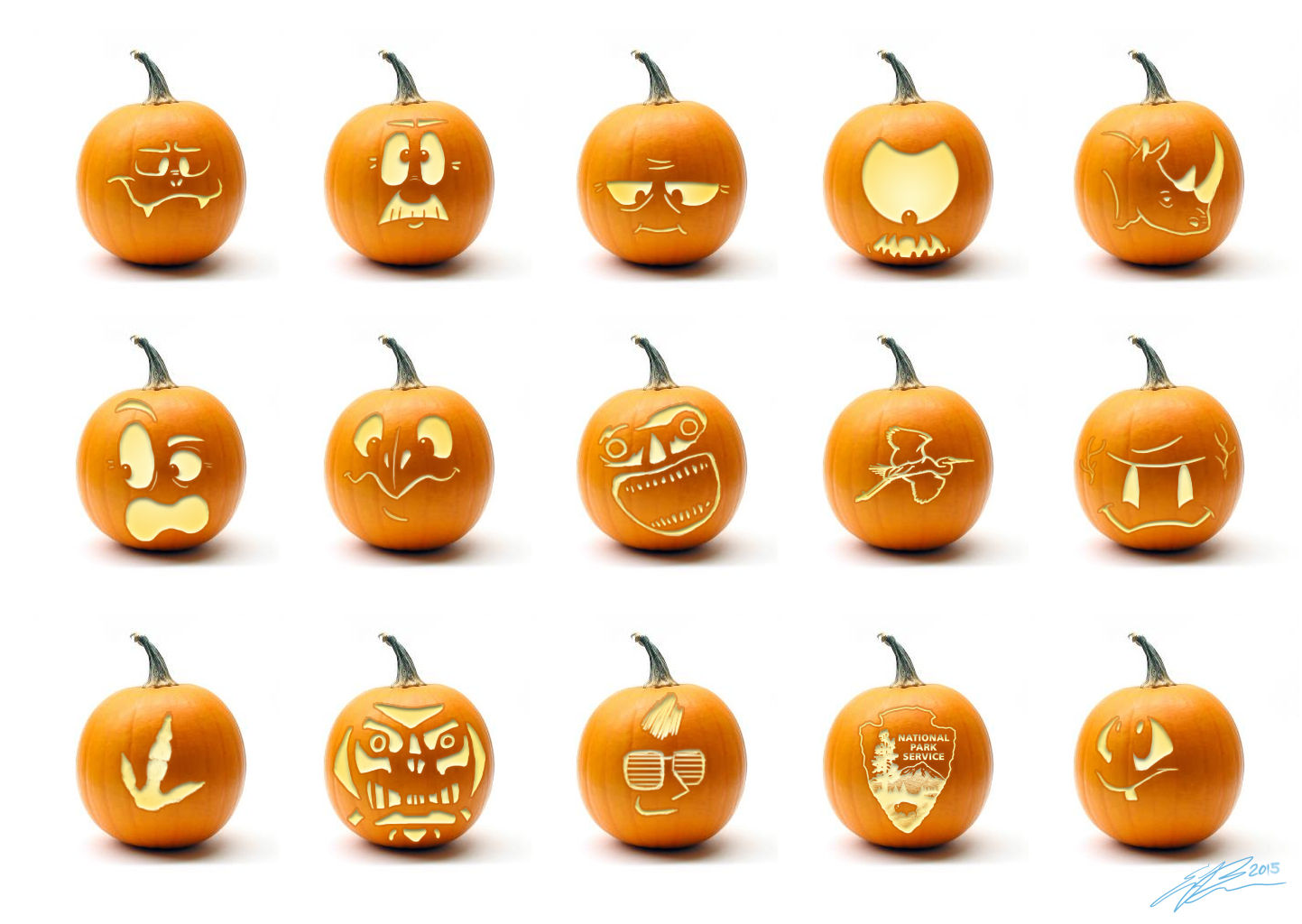 this also marks the fifth anniversary of doing this thats kind of exciting right anyhoo here are this years designs click to enlarge - Pumpkin Designs