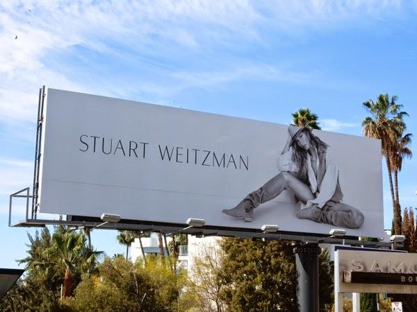 Gisele Bundchen Stuart Weitzman shoes S15 billboard