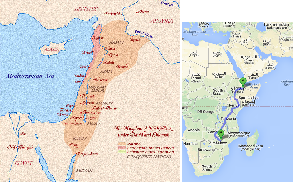 Israelitish Worldwide There Are Plenty Of Jewish Roots - Map of ancient egypt kush and israel
