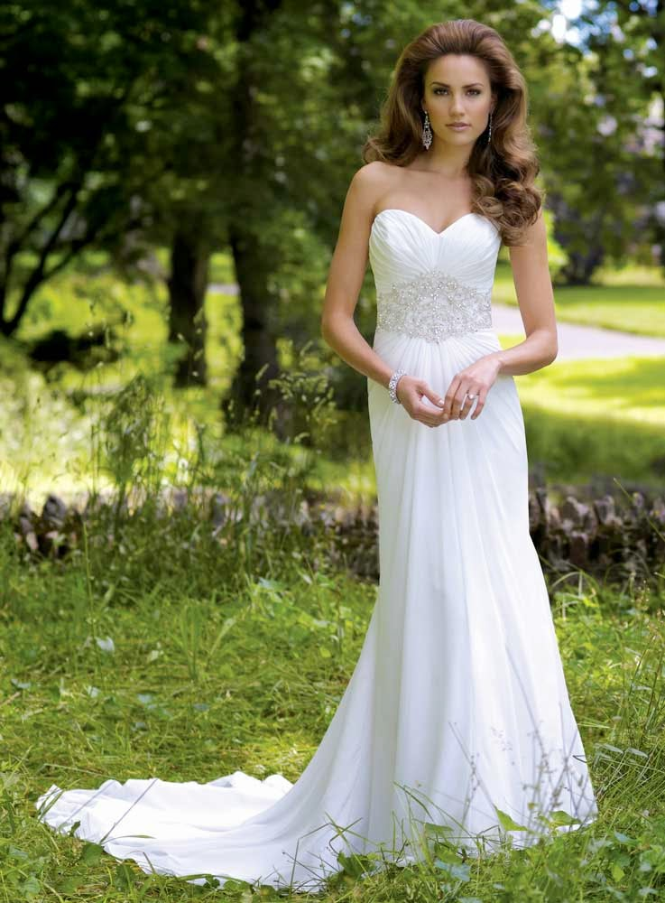 Casual White Rose Wedding Dresses Long Trains UK Design pictures hd