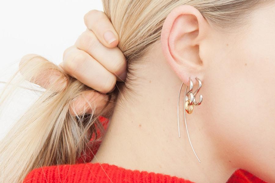charlotte chesnais single hook earrings