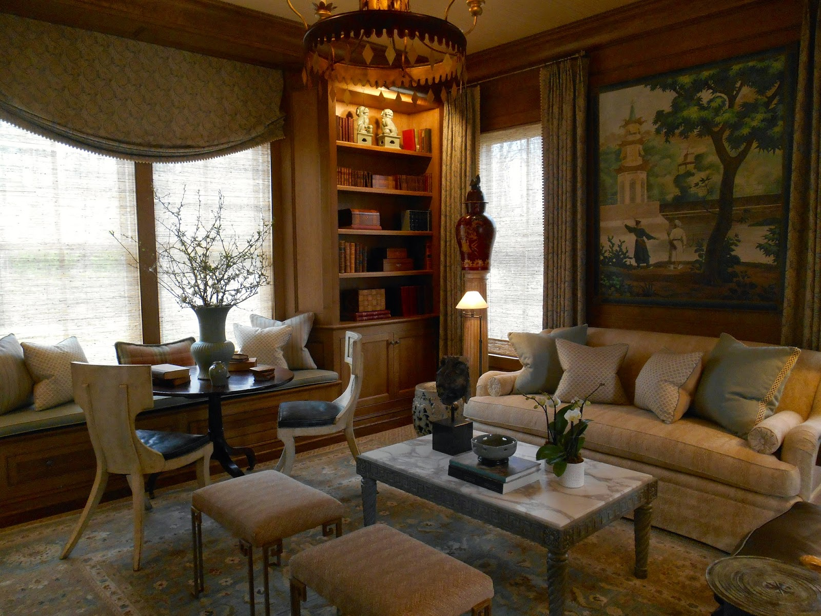 Adjoining The Living Room Is A Library In Quarter Sawn Oak