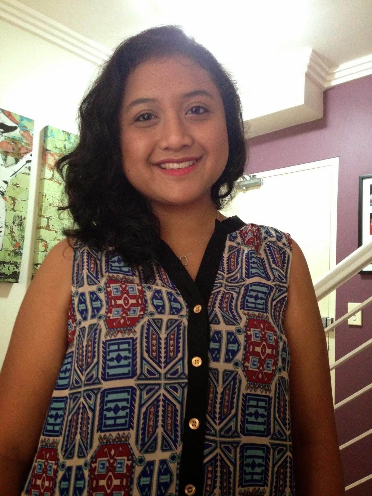 TEMT blouse, simple make up, NYX Soft Matte Lip Cream - San Paulo