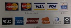 Mercantil e Frigorífico Balanças está aceitando cartões de créditos, as bandeiras: