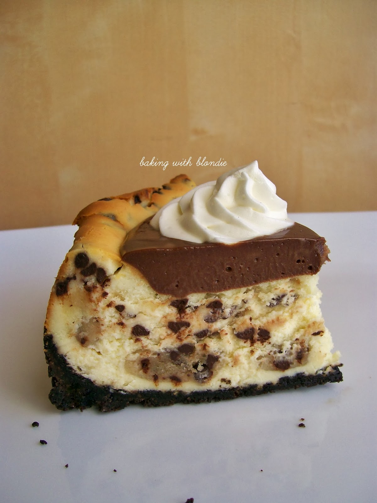 Baking with Blondie : Chocolate Chip Cookie Dough Cheesecake with Oreo ...