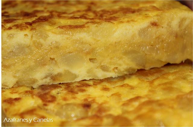 Tortilla de patatas | Azafranes y Canelas