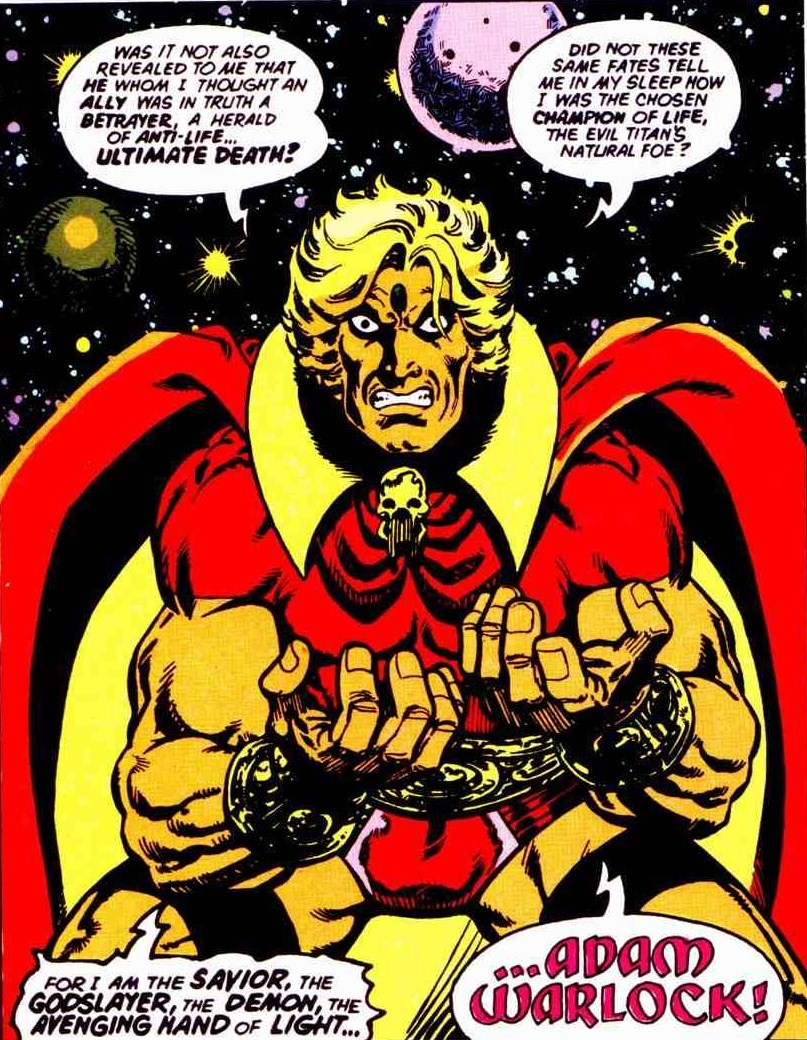 This era of adam warlock concluded in 1977 with a three part crossover