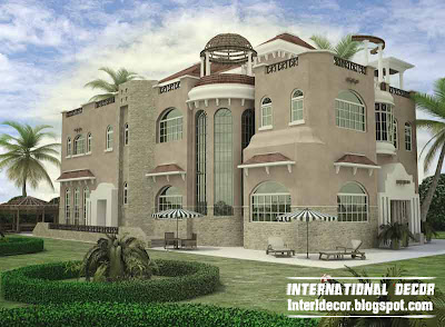 International villa design with modern ideas 2014