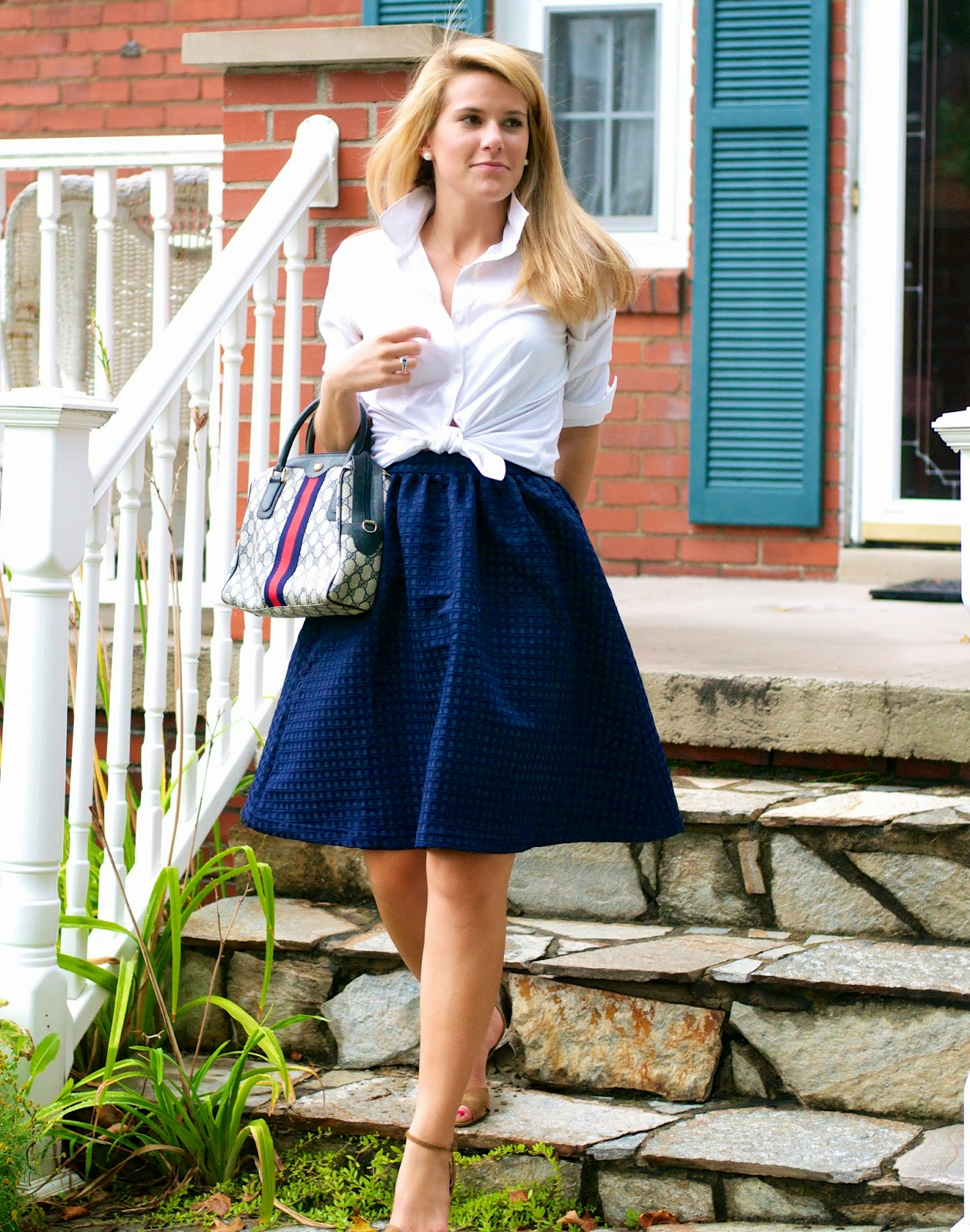 Summer Wind: #NSale Navy Midi Skirt