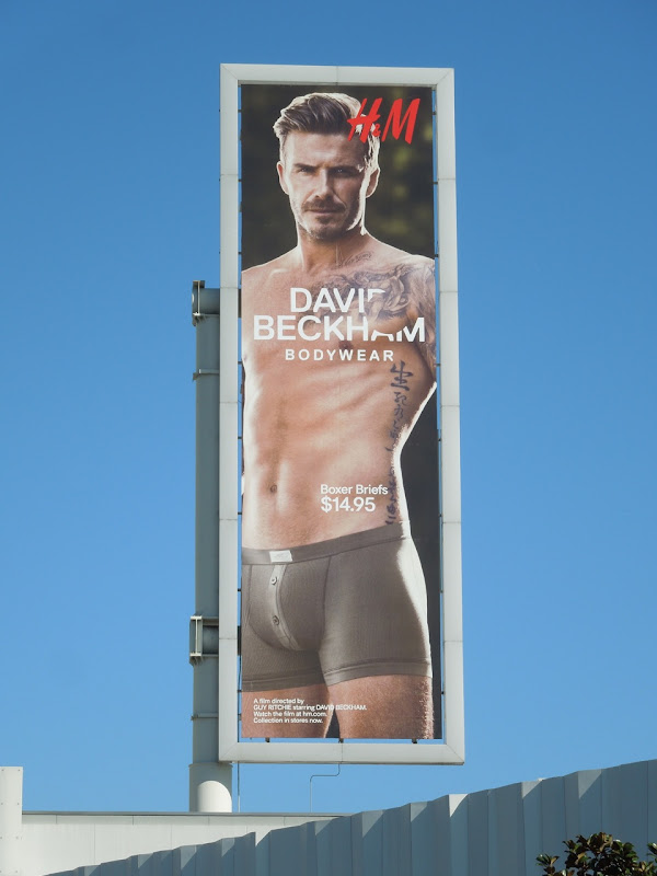 David Beckham H&M Bodywear Spring 2013 billboard