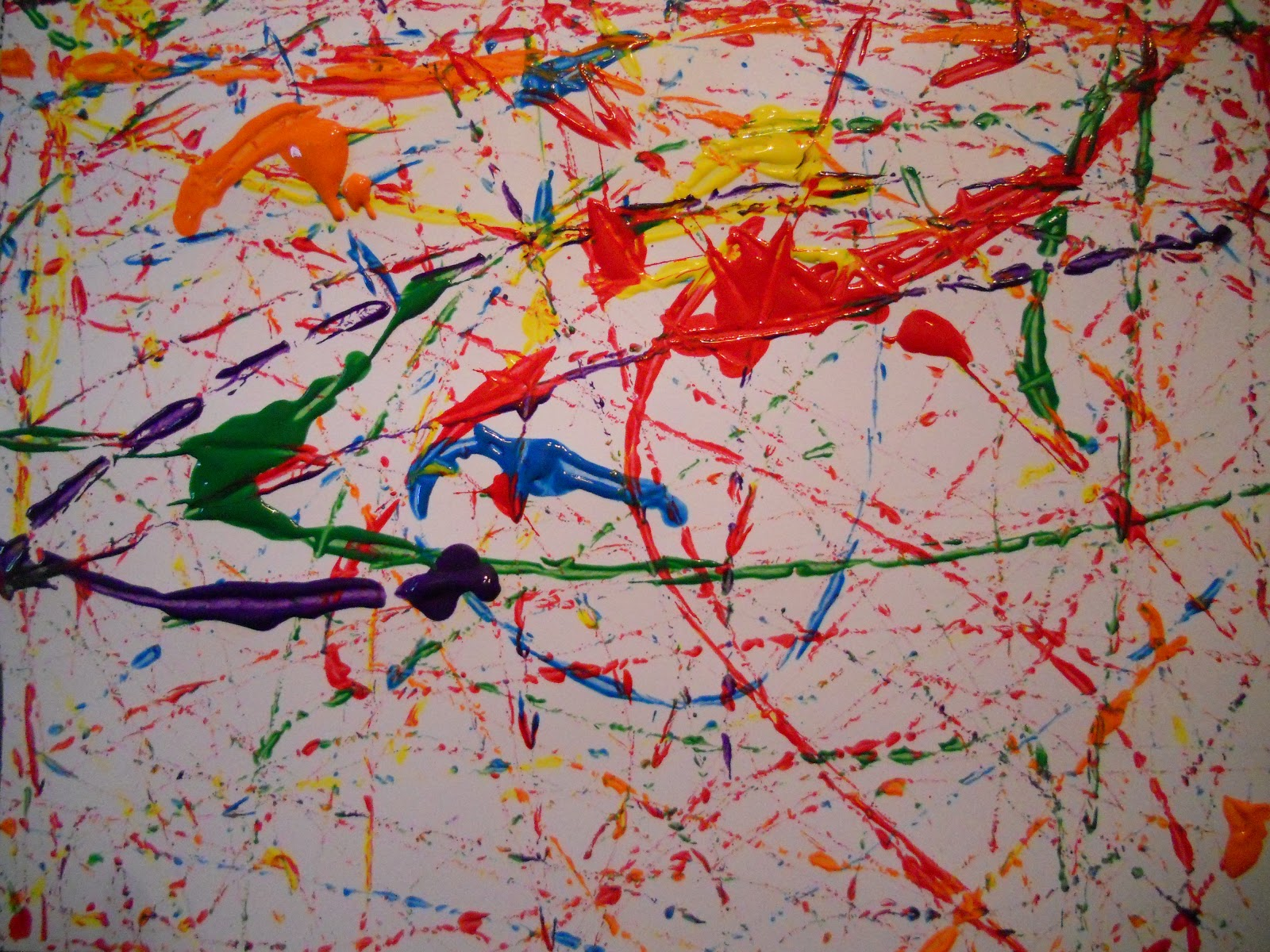 Create art with mrs p 15 minute jackson pollock painting for Creating a mural