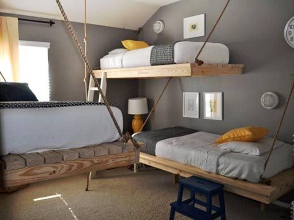 Home decor diy hanging kids 39 beds for Suspended beds for kids