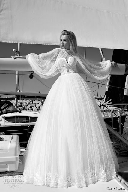 Galia Lahav vintage sleeves wedding  dress 2013 2014