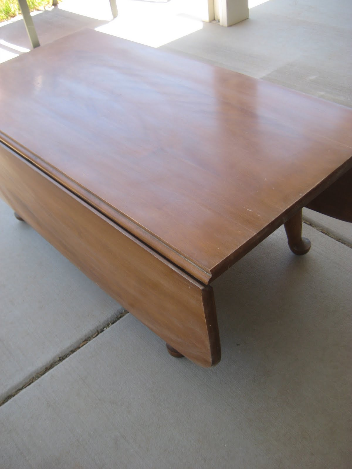 A Cozy Cup of Tea Vintage Drop Leaf Coffee Table