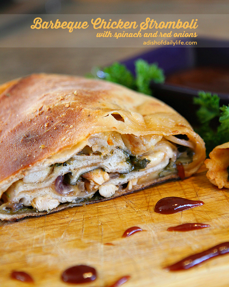 http://www.adishofdailylife.com/2015/01/game-day-snacks-barbeque-chicken-stromboli/