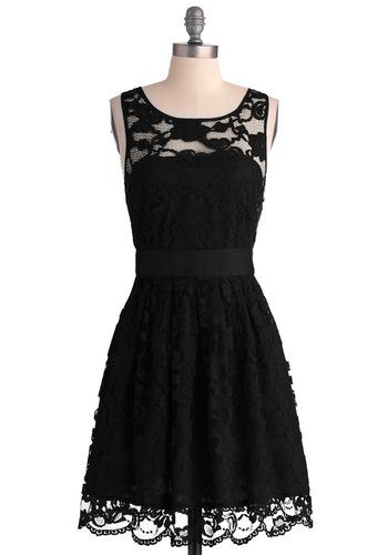 Elegant Black Evening Dress