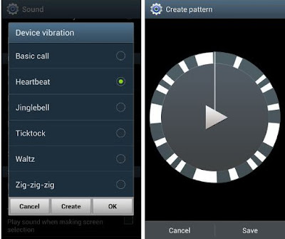 how to set custom vibration galaxy s3