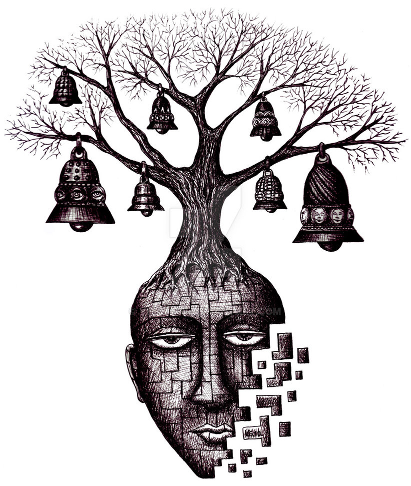 09-Tree-of-Your-Souls-Vitaliy-Gonikman-Surreal-Black-and-White-Drawings-with-a-Message-www-designstack-co