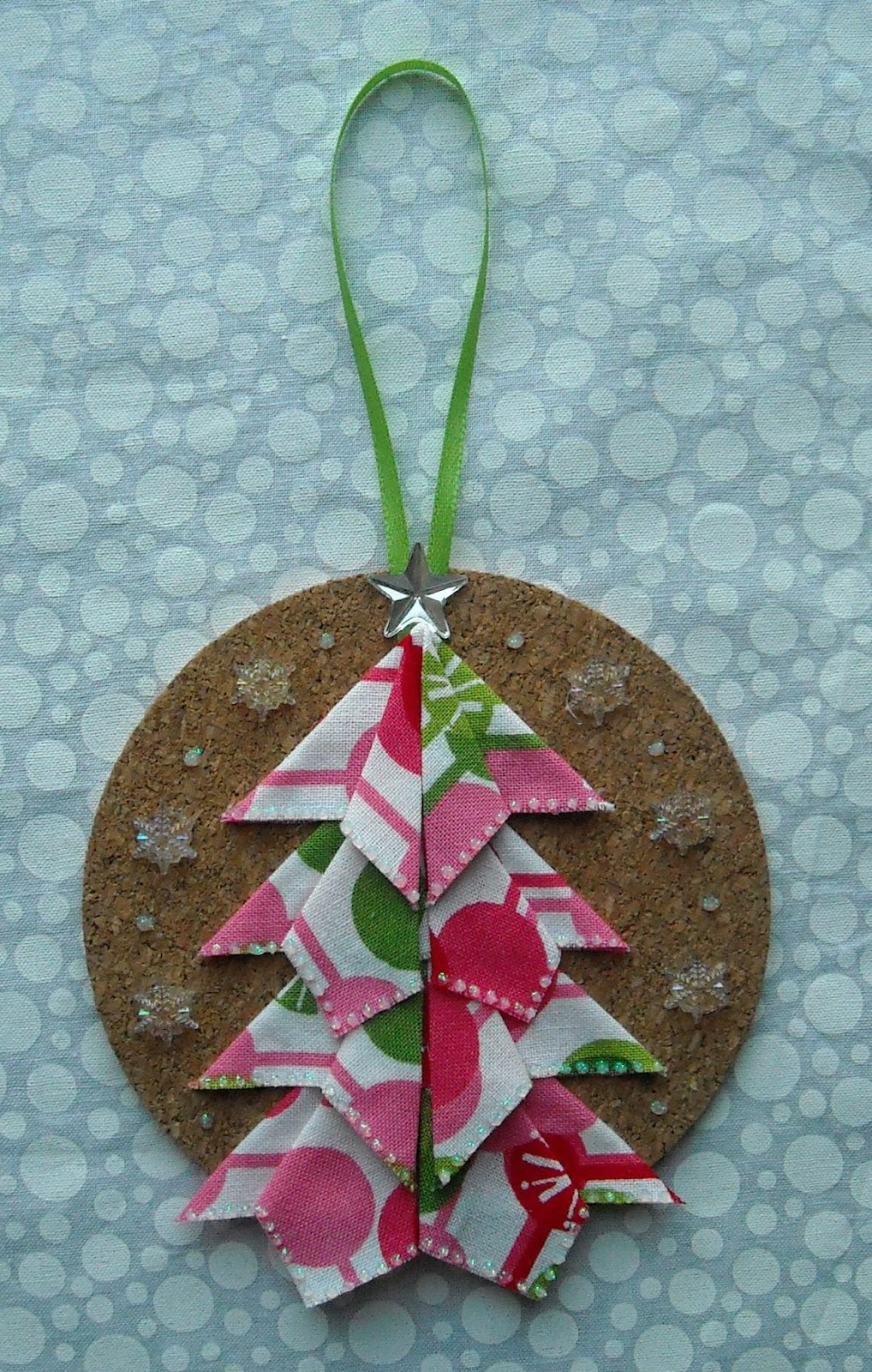 crafter without a cat origami tree ornament