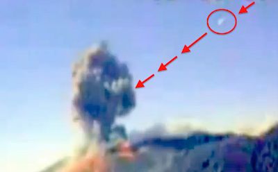 UFO Flies Into Active Volcano