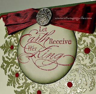 Stamped Embossed Christmas Greeting Card