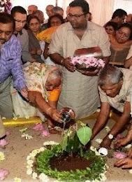 Planting Bodhi Tree at Global Pagoda