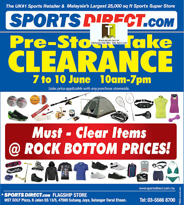 SportDirect.com Pre-Stock Take Clearance Sale