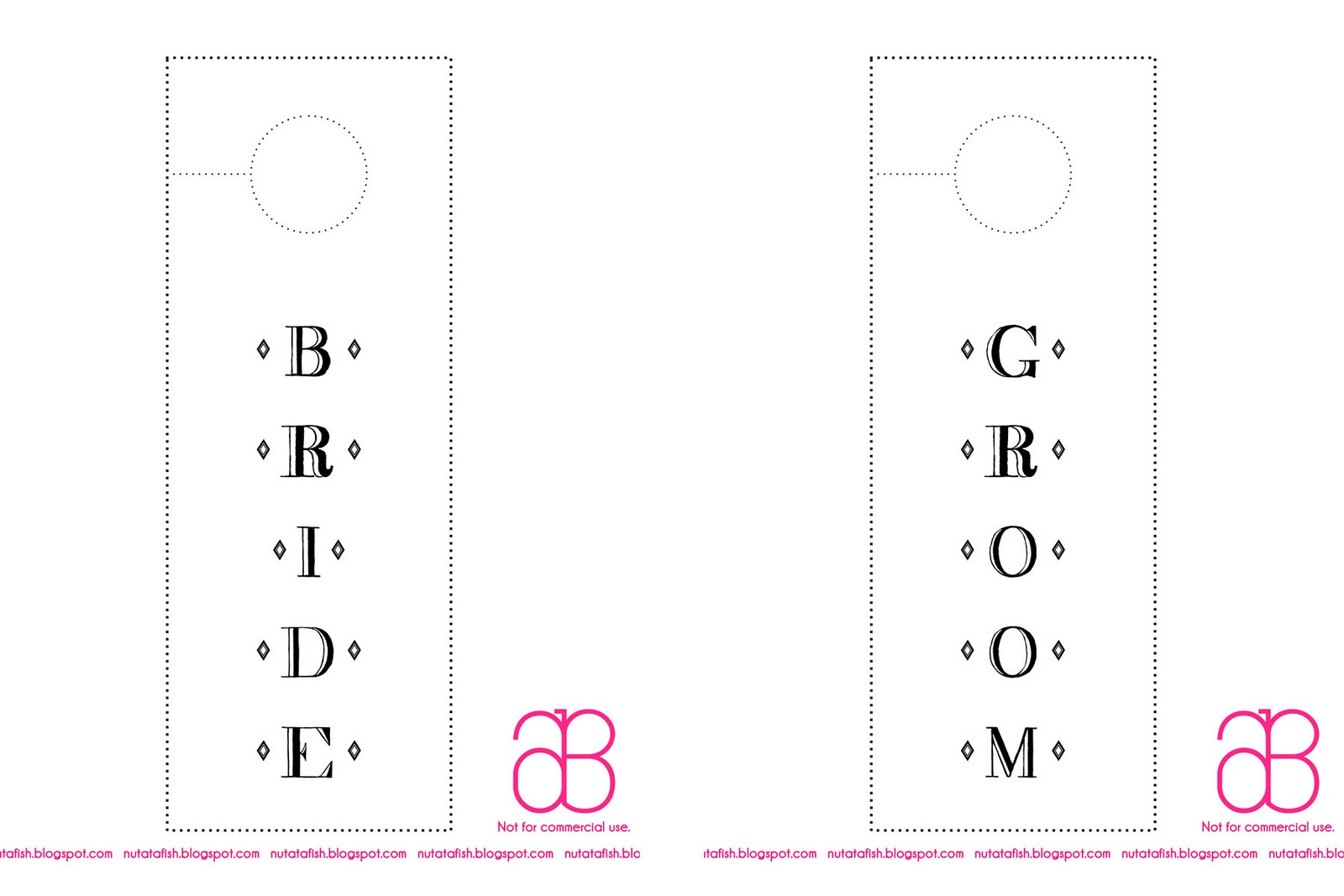 Free Bride and Groom Door Hanger Template Nutatafish – Wedding Door Hanger Template