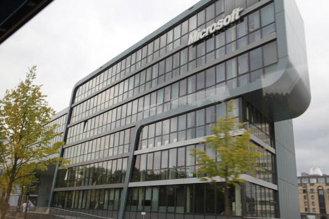 Microsoft building in unique building structure in Cologne, Germany