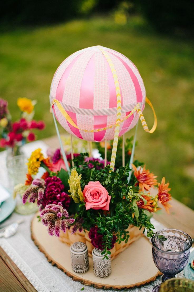 7 centos de mesa para bodas con globos - Pinas decoradas para centro de mesa ...
