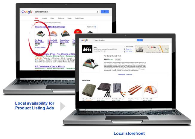 Lokales Google Shopping Desktop