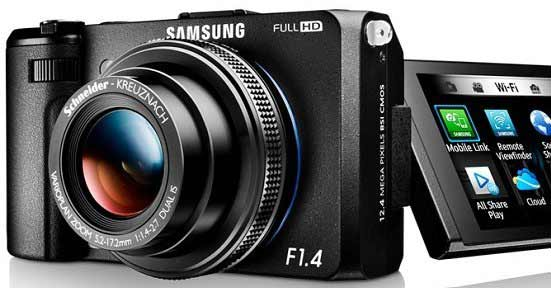 Samsung packs super-bright F/1.4 lens and 1/1.7″ sensor inside Wi-Fi EX2F camera