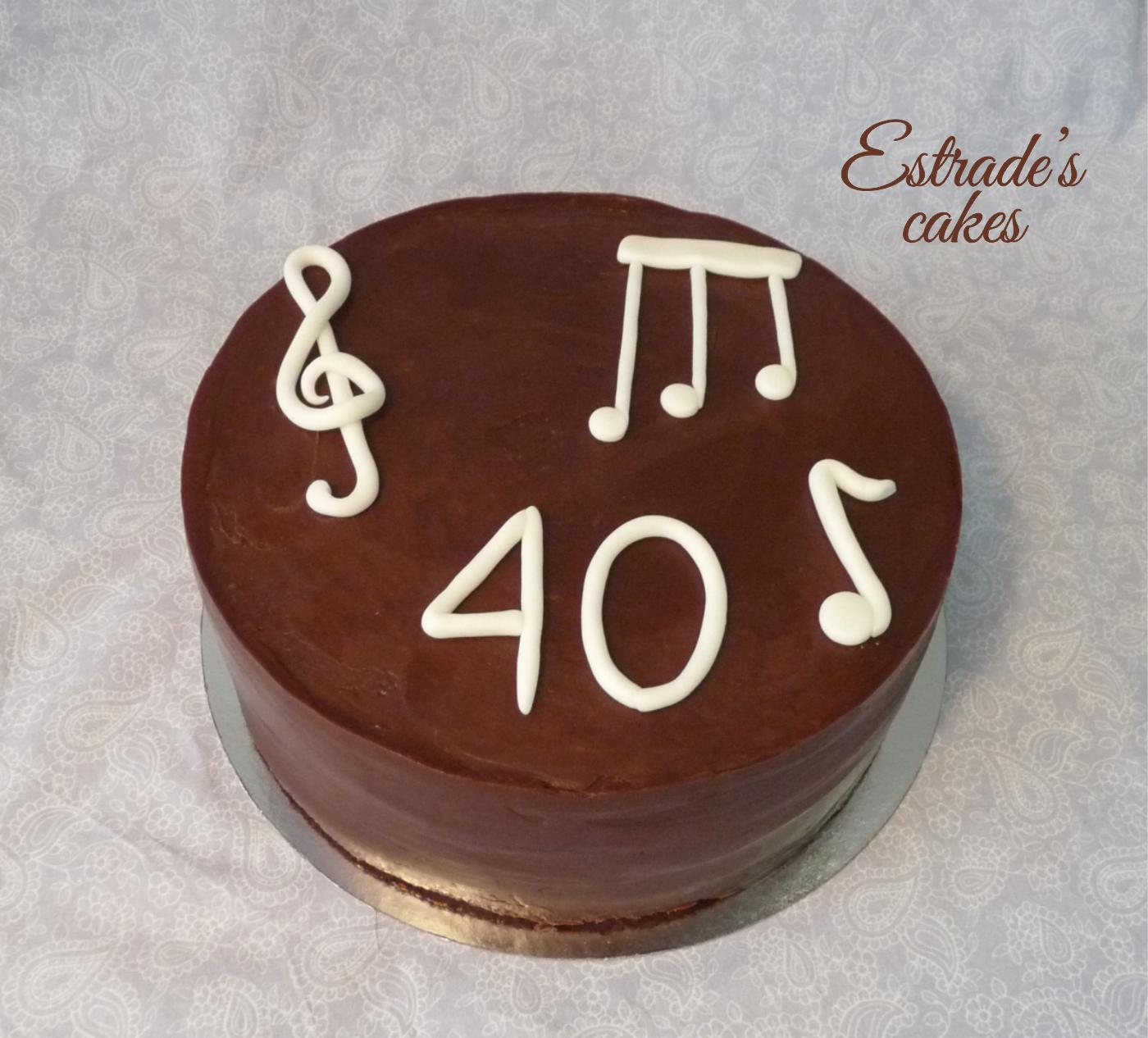 tarta música sin fondant - 1
