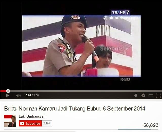 Norman Kamaru Jadi Tukang Bubur
