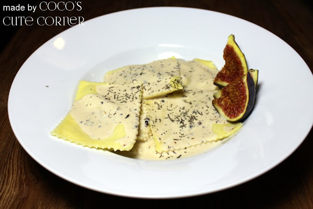 Ravioli with Peppercheese, Figs and Thyme