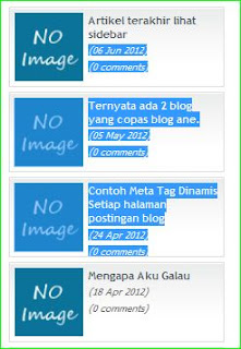 cara membuat gadget recent post di blogger
