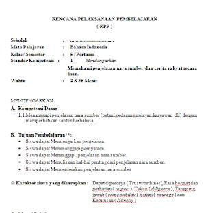 Download Rpp Dan Silabus Kelas 5 Sd Kurikulum Ktsp