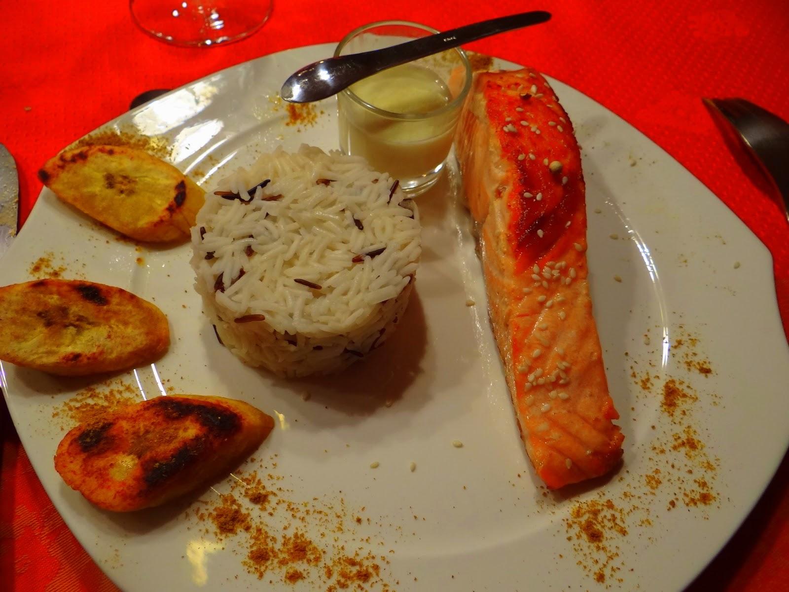 Chez duduch voyage des les au saumon grill lait de for Banane plantain au barbecue