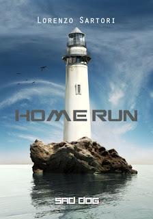 copertina del secondo racconto Sad Dog: Home run. Mosra un faaro su uno scoglio nel mare calmmo