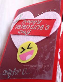 Valentine's rabbit popup card