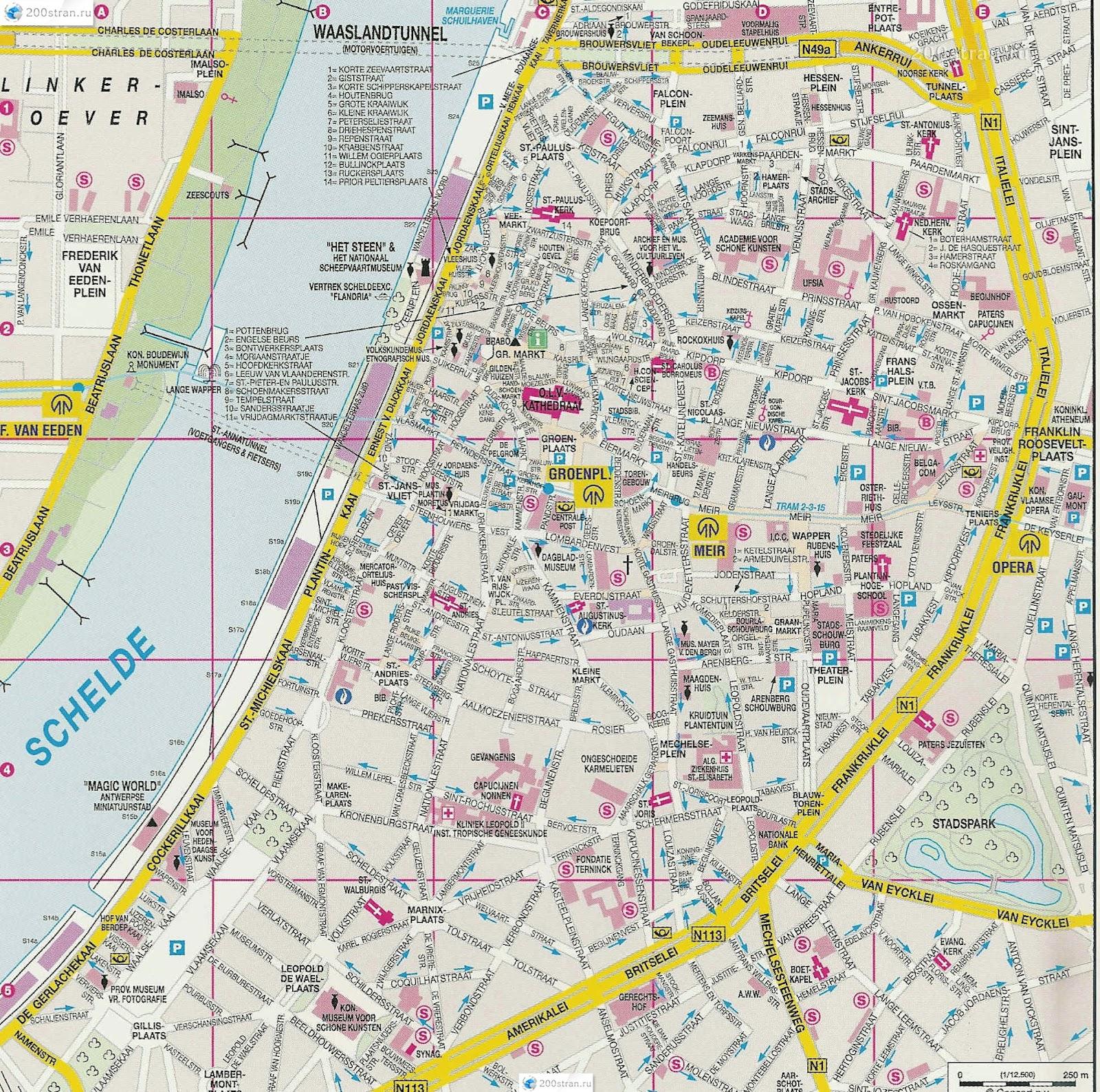 map of antwerp belgium