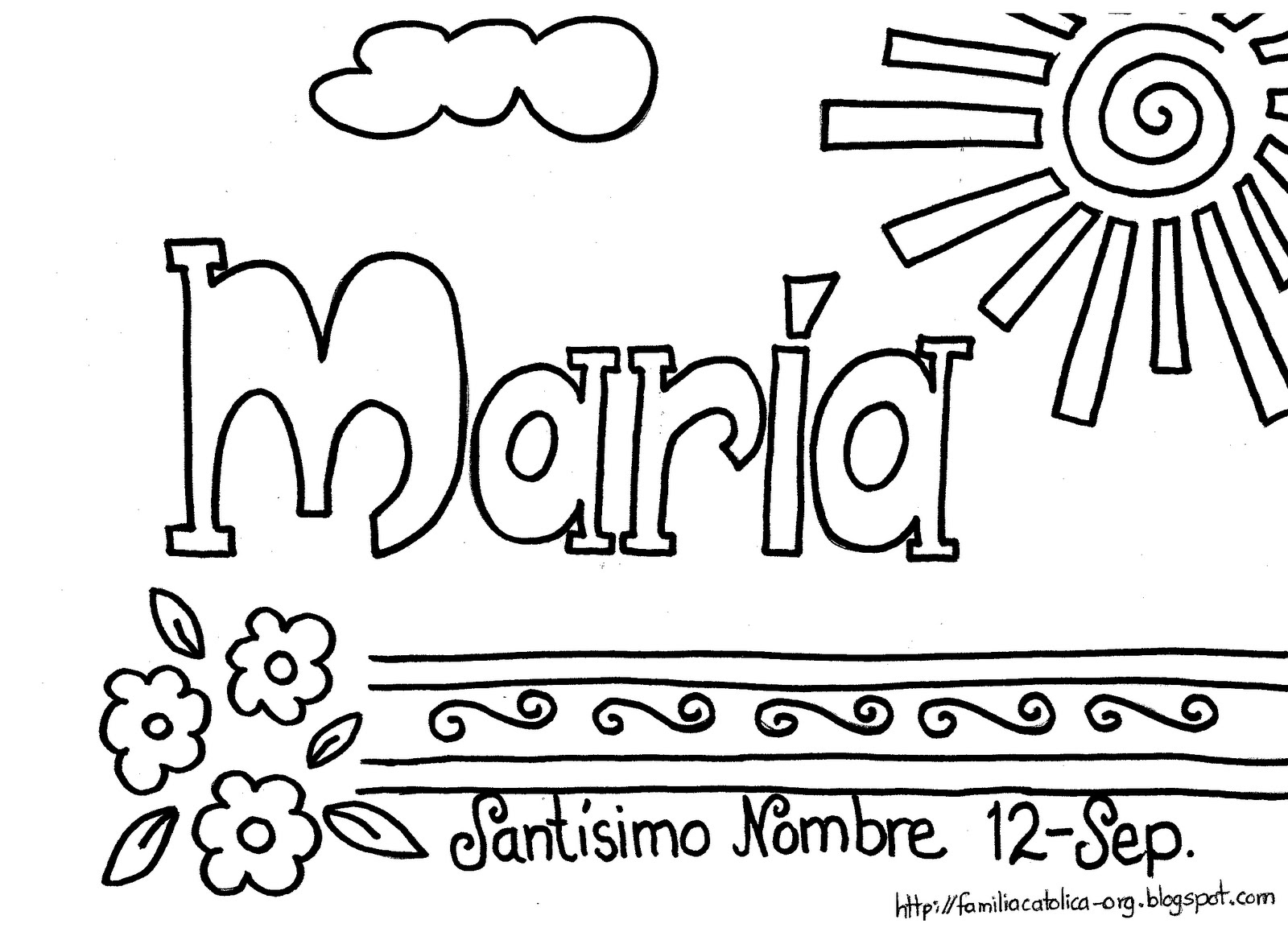 Ideas para ir más lejos: 12 de Septiembre Dulce Nombre de María