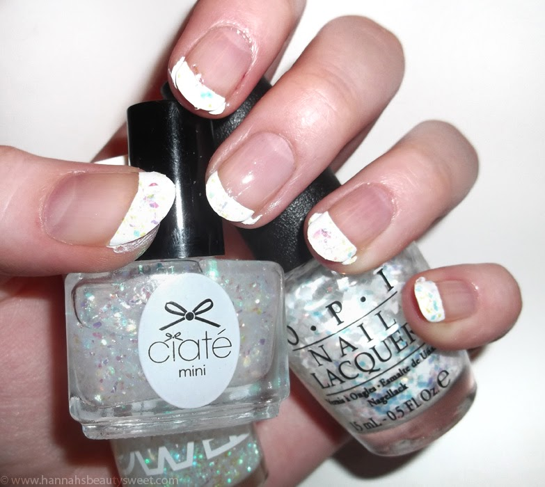 glitter, Christmas nail art, tutorial, how to, NOTD, holly, winter, nails