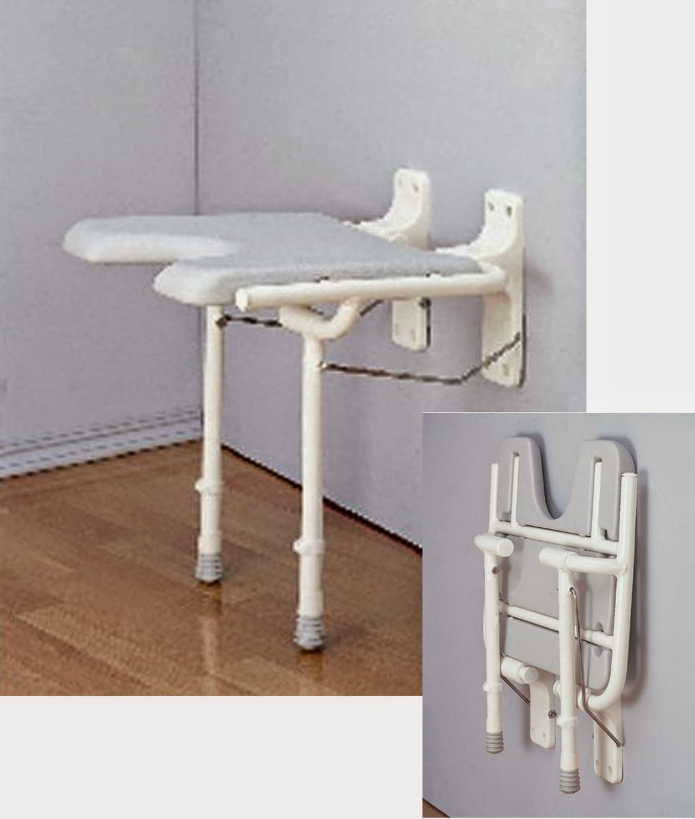 Fold Up Wall Mounted Shower Chair
