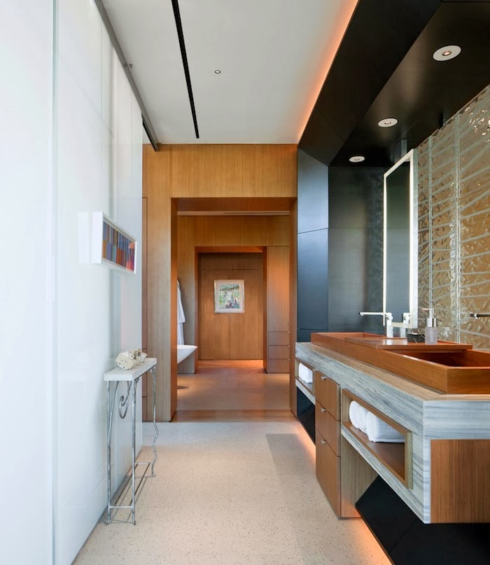 Second bathroom in Multimillion modern dream home in Las Vegas